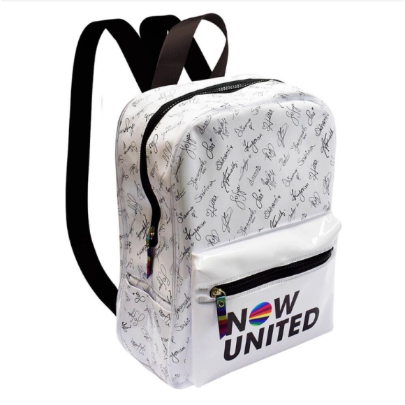 Mochila Escolar Now United Branca Dac