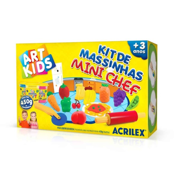 Kit de Massinhas Mini Chef 450g Art Kids