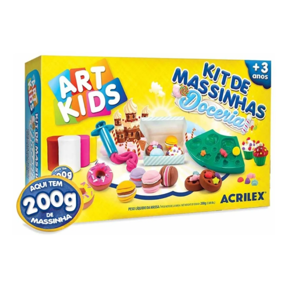 Kit de Massinhas Doceria 200g Art Kids